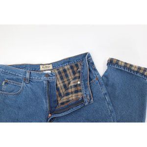 LL Bean men's 35 Classic fit flannel lined jeans
